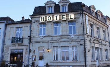 devanture de l'hôtel